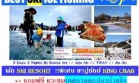 ทัวร์เกาหลี พักสกี แวะชมตกปลาน้ำแข็ง BEST SKI ICE FISH 2018 เริม17900